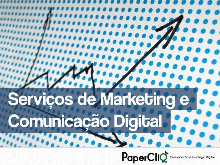 Serviços de Marketing eComunicação Digital