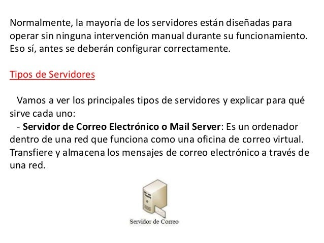 Servidor y tipos de servidores for Oficina virtual sistema red