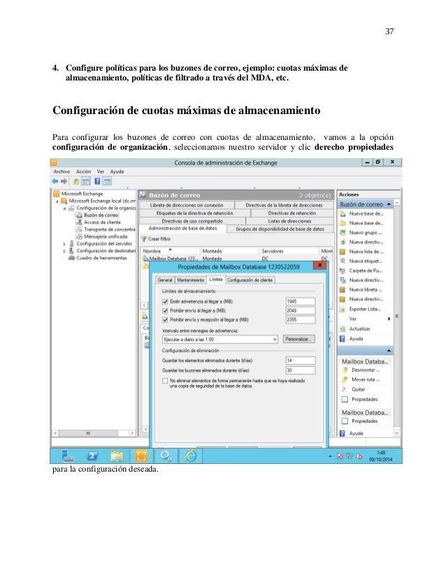 Servidor de correo Exchange 2010 sobre Windows Server 2012