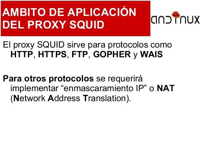 Instalación de Servidores GNU/Linux - PROXY SQUID (parte 3) Slide 3