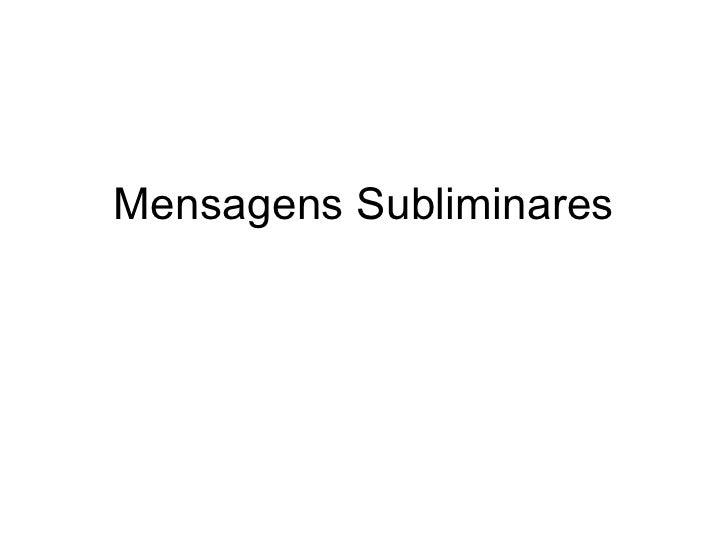 Mensagens Subliminares