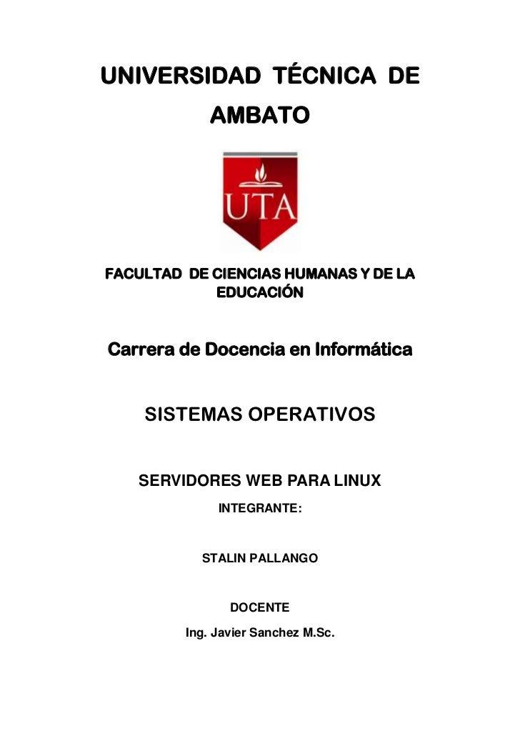 UNIVERSIDAD TÉCNICA DE             AMBATOFACULTAD DE CIENCIAS HUMANAS Y DE LA            EDUCACIÓNCarrera de Docencia en I...