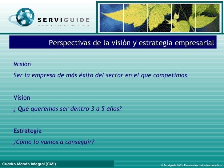 Perspectivas de la visión y estrategia empresarial Misión Ser la empresa de más éxito del sector en el que competimos. Vis...