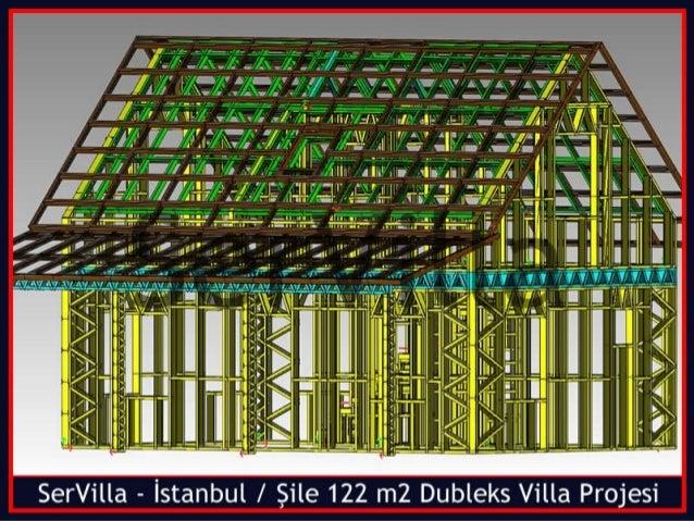 SerVilla Çelik Yapı Sistemleri  www.e-villaproje.com / +90 505 507 04 18 / +90 216 614 04 34