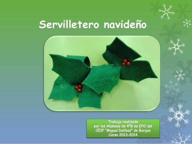 Servilletero navideño