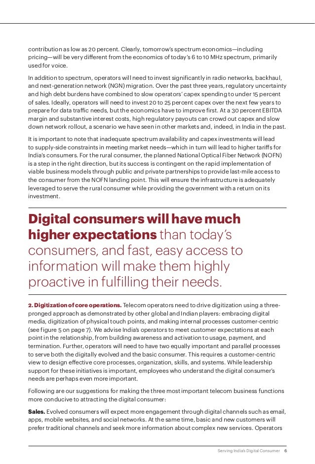 6Serving India's Digital Consumer contribution as low as 20 percent. Clearly, tomorrow's spectrum economics—including pric...