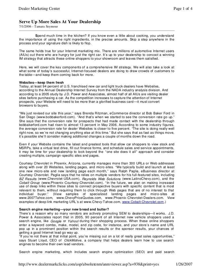 Dealer Marketing Center                                                                                     Page 1 of 4   ...