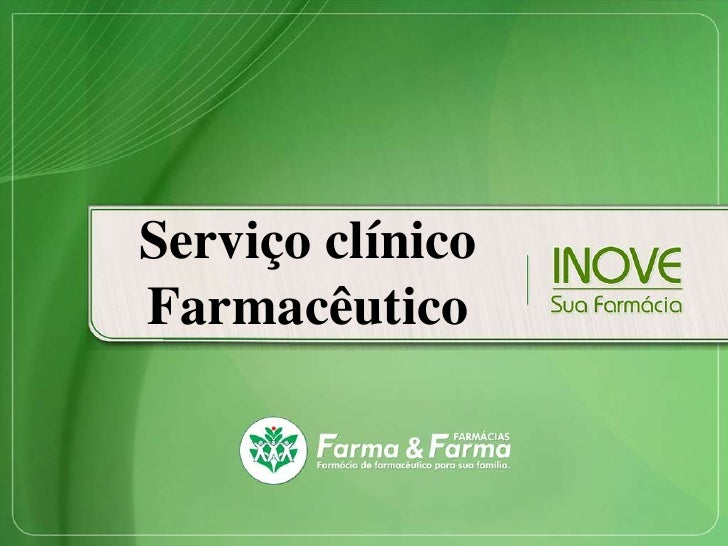 Serviço clínicoFarmacêutico