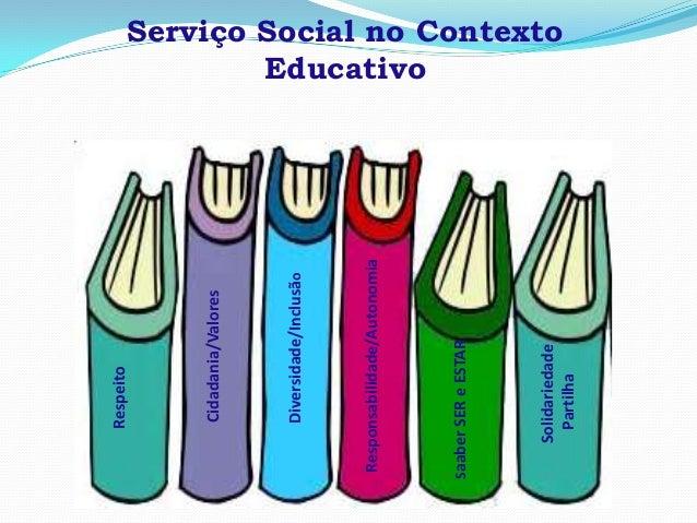 Serviço Social no ContextoEducativoRespeitoCidadania/ValoresDiversidade/InclusãoResponsabilidade/AutonomiaSaaberSEReESTARS...