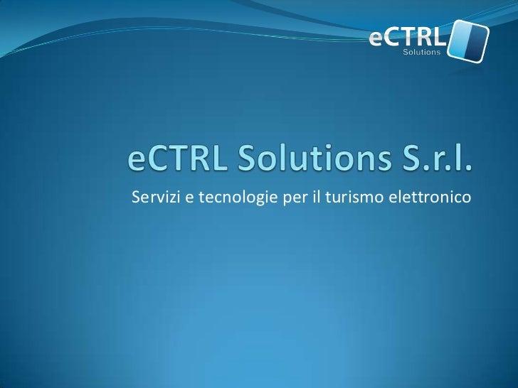 Servizi e tecnologie per il turismo elettronico
