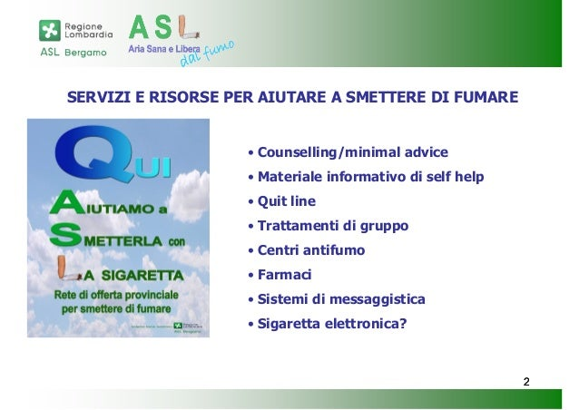 Servizi per aiutare a smettere di fumare for Farmaci per smettere di fumare
