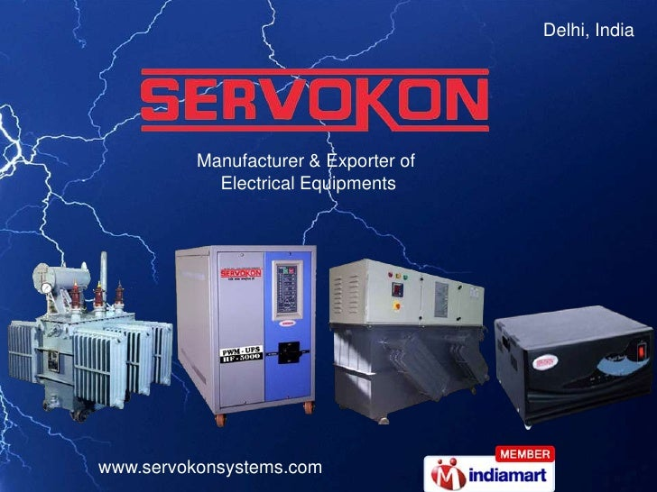 Delhi, India <br />Manufacturer & Exporter of <br />Electrical Equipments<br />
