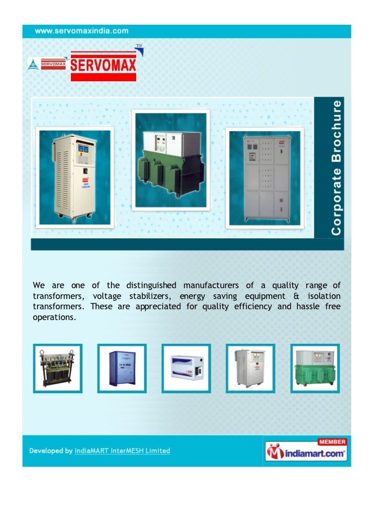 Servomax India Limited Hyderabad Electronic Voltage