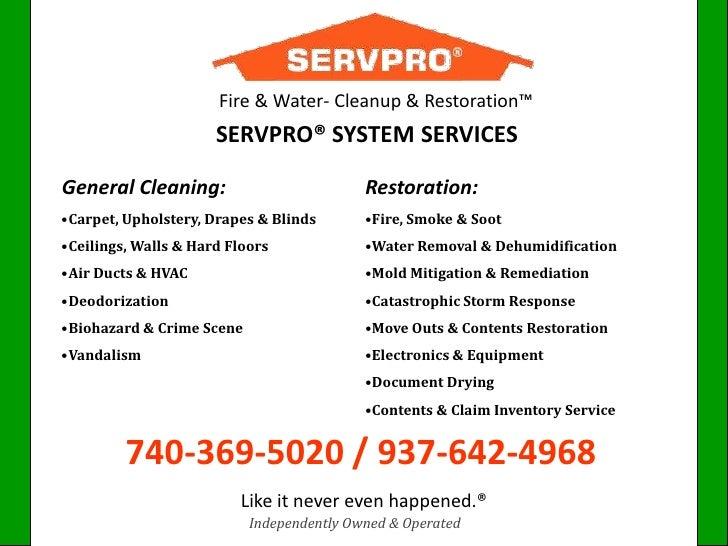 Servpro S Background Amp Tips