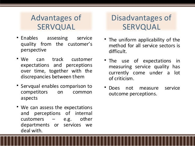 servqual thesis Service quality measures how well a service is delivered, compared to customer expectations businesses that meet or exceed expectations are considered to have high service quality.