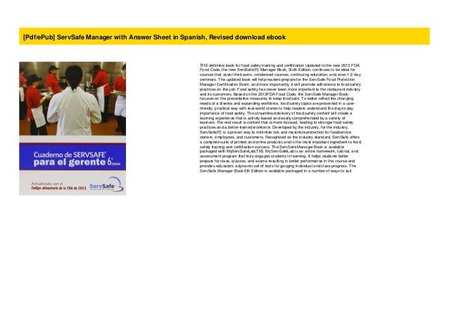 Pdf/ePub ServSafe Manager with Answer Sheet in Spanish ...