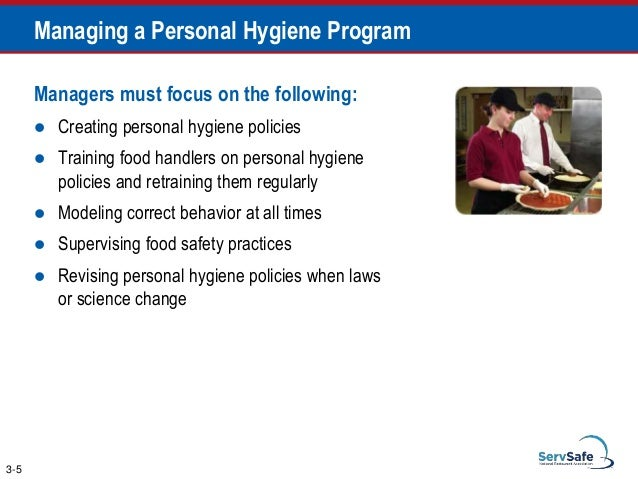 personal hygiene in food and beverage Food safety is everybody's business your guide to preventing foodborne illness washington state food & beverage workers' manual table of contents part 1: welcome to food safety 1 food safety practice: personal hygiene 9 handwashing 10.