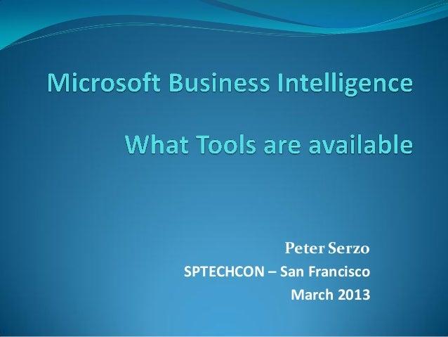 Peter SerzoSPTECHCON – San Francisco              March 2013