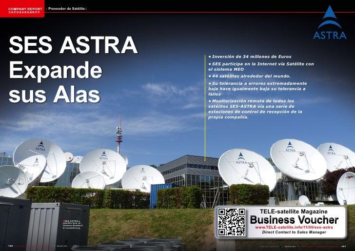 COMPANY REPORT                         Proveedor de Satélite该独家报道由高级编辑所作SES ASTRAExpande                                  ...