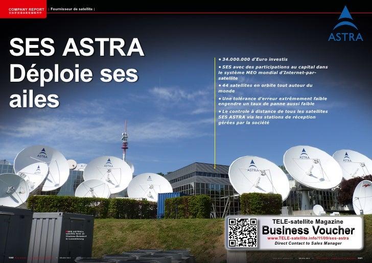 COMPANY REPORT                         Fournisseur de satellite该独家报道由高级编辑所作SES ASTRADéploie ses                           ...