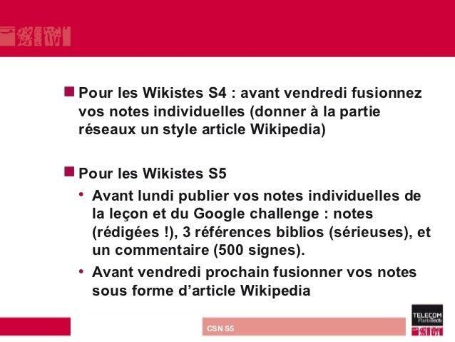  Pourles Wikistes S4 : avant vendredi fusionnez vos notes individuelles (donner à la partie réseaux un style article Wiki...