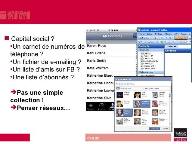     Capital social ?    •Un carnet de numéros de    téléphone ?    •Un fichier de e-mailing ?    •Un liste d'amis sur FB ...