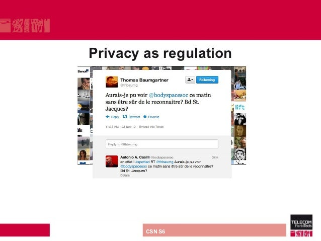 Privacy as regulationdirection ou services   CSN S6