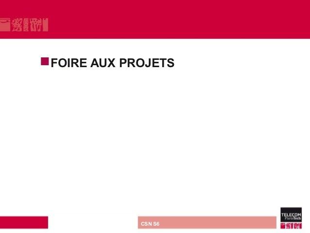 FOIRE         AUX PROJETS direction ou services   CSN S6