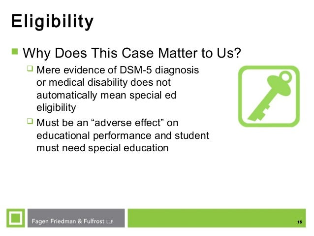 Special Education Eligibility And Dsm 5 >> Ses Fall 2015 Legal Update