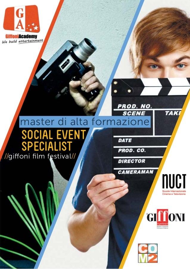 master di alta formazione SOCIAL EVENT SPECIALIST //giffoni film festival//