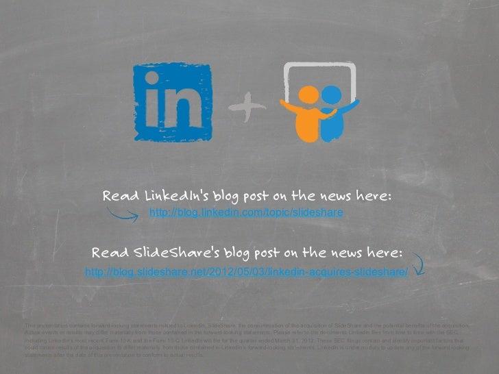Read LinkedIns blog post on the news here:                                                   http://blog.linkedin.com/topi...