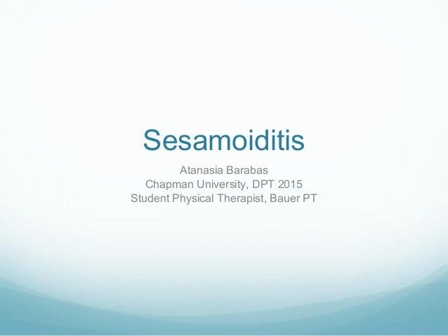 Sesamoiditis: Cause an...