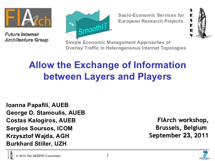 Allow the Exchange of Information between Layers and Players Socio-Economic Services for European Research Projects Ioanna...