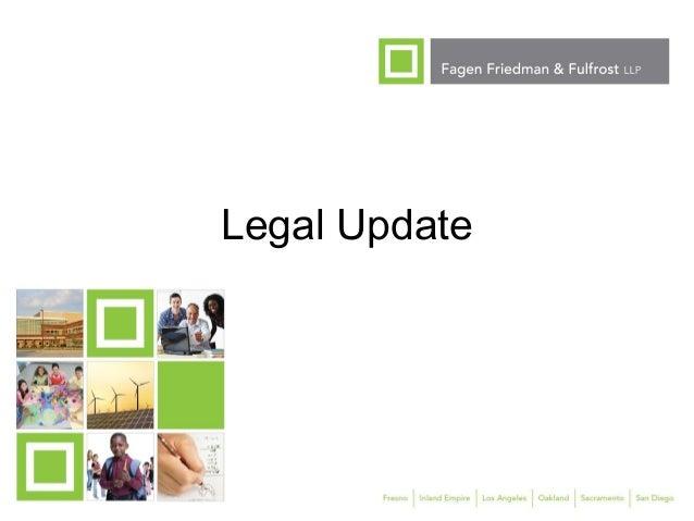 1 Legal Update