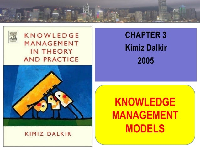 CHAPTER 3 Kimiz Dalkir 2005  KNOWLEDGE MANAGEMENT MODELS