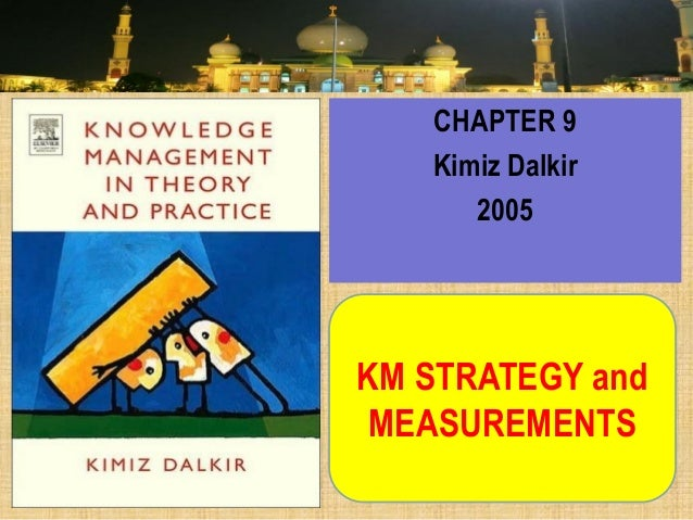 KM STRATEGY and MEASUREMENTS  CHAPTER 9  Kimiz Dalkir  2005