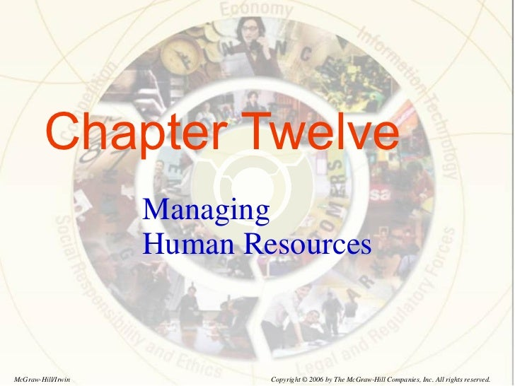 Chapter Twelve Managing Human Resources Copyright © 2006 by The McGraw-Hill Companies, Inc. All rights reserved. McGraw-Hi...
