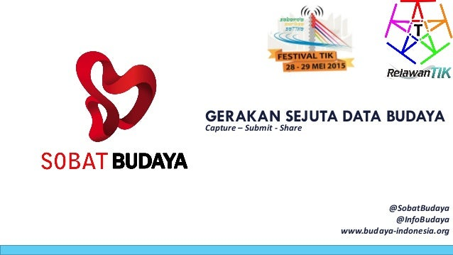 GERAKAN SEJUTA DATA BUDAYA Capture – Submit - Share @SobatBudaya @InfoBudaya www.budaya-indonesia.org