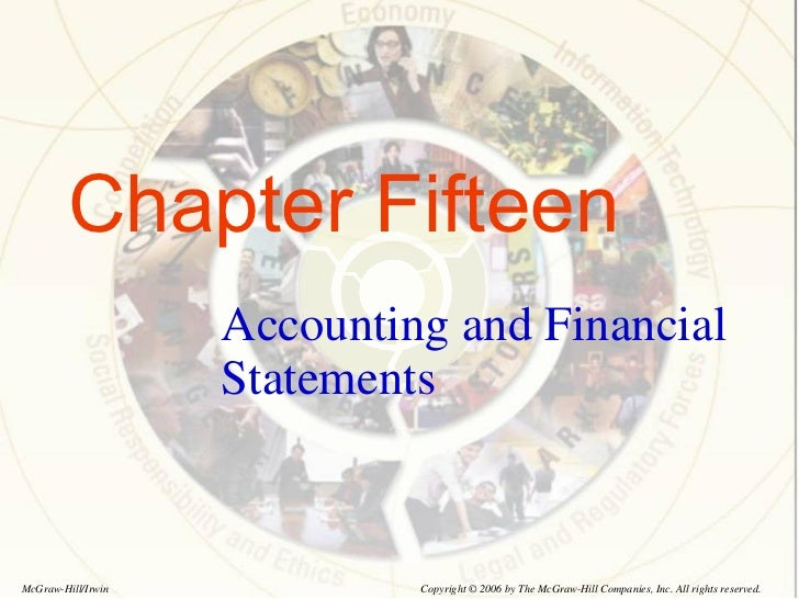 Chapter Fifteen Accounting and Financial Statements Copyright © 2006 by The McGraw-Hill Companies, Inc. All rights reserve...