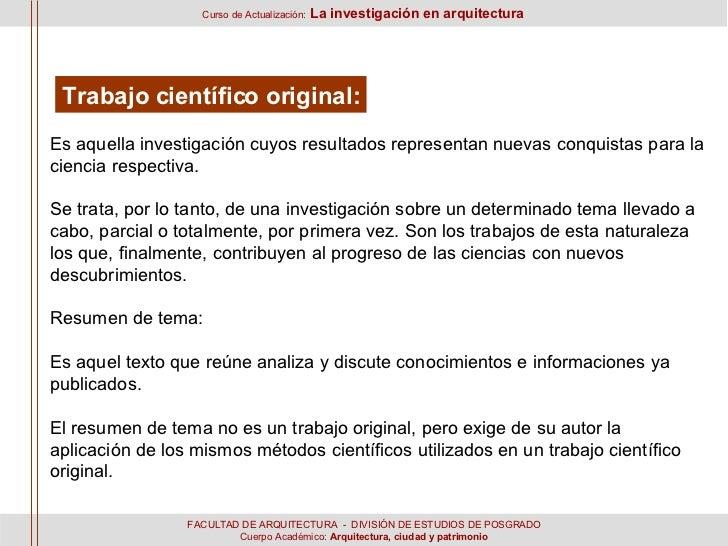 SesióN 1 Y 2  L A InvestigacióN En Arquitectura Slide 3