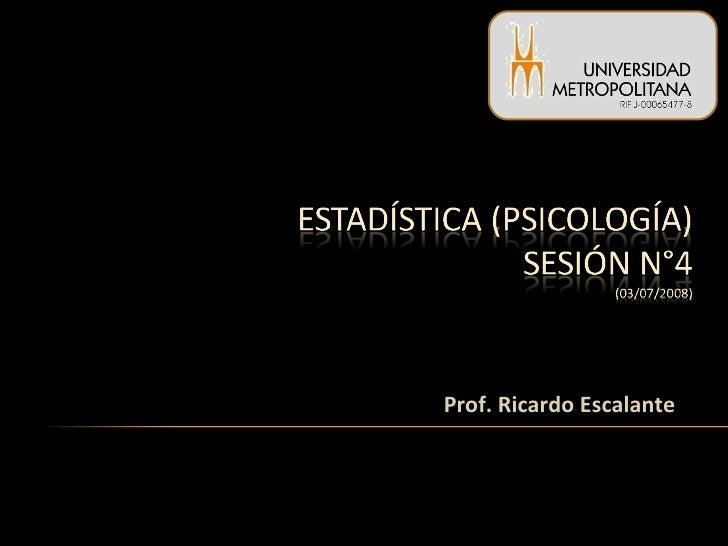 Prof. Ricardo Escalante