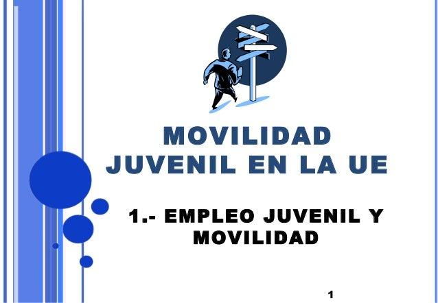 1MOVILIDADJUVENIL EN LA UE1.- EMPLEO JUVENIL YMOVILIDAD