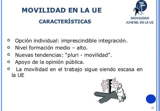 """11 Opción individual: imprescindible integración. Nivel formación medio – alto. Nuevas tendencias: """"pluri - movilidad""""...."""