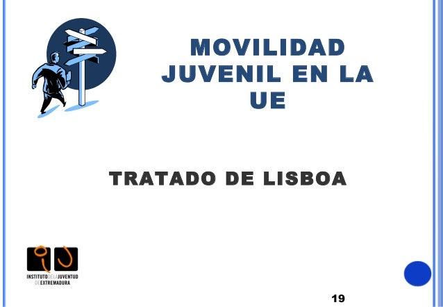 19MOVILIDADJUVENIL EN LAUETRATADO DE LISBOA