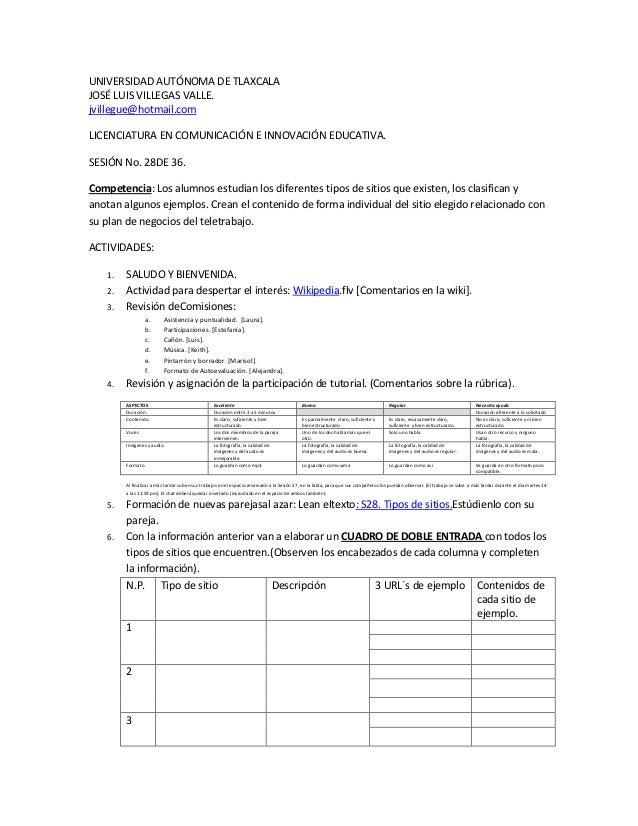 UNIVERSIDAD AUTÓNOMA DE TLAXCALAJOSÉ LUIS VILLEGAS VALLE.jvillegue@hotmail.comLICENCIATURA EN COMUNICACIÓN E INNOVACIÓN ED...