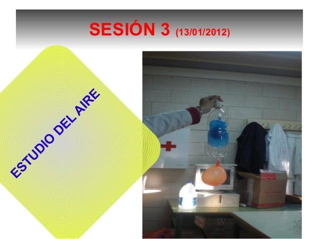 SESIÓN 3 (13/01/2012) ESTU D IO D EL A IR E
