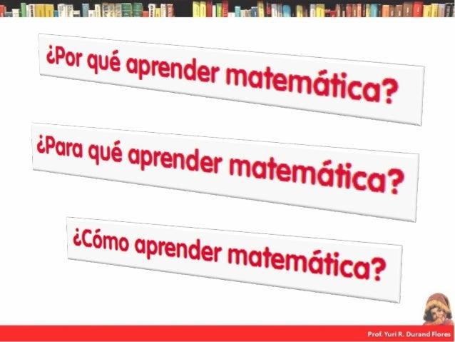 La matemática está presente en diversos espacios de la actividad humana, tales como actividades familiares, sociales, cult...