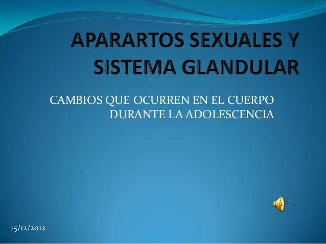 CAMBIOS QUE OCURREN EN EL CUERPO                     DURANTE LA ADOLESCENCIA15/12/2012