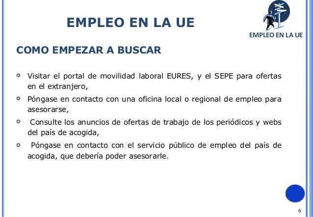 Empleo en la uni n europea - Oficina de empleo sepe ...