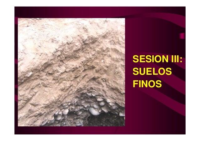 SESION III:SUELOSFINOS